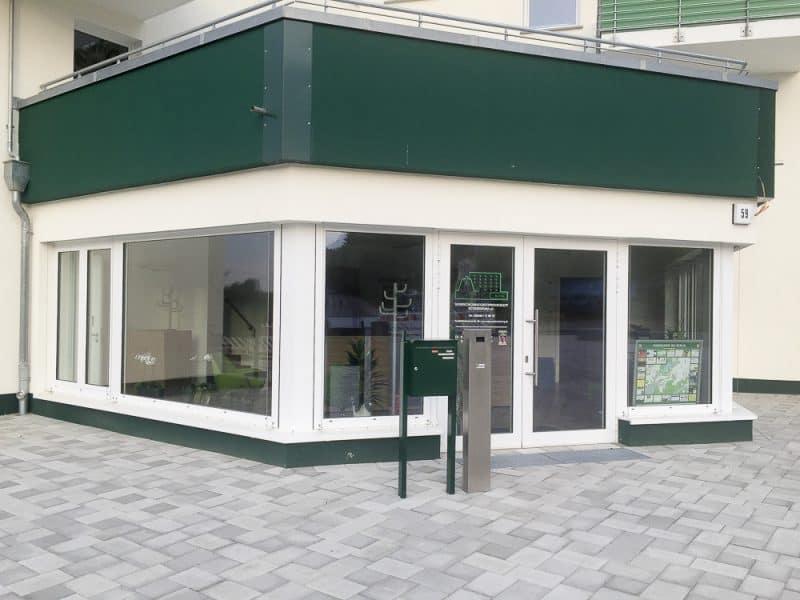 Eingang WBG-Büro